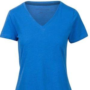 Tommy Hilfiger Women's Short Sleeve V-Neck Shirt